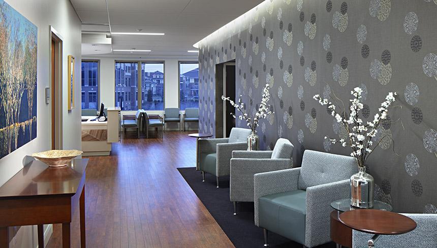 Photo of lobby at UNC Fertility